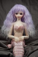 Doll Wig Fae - Lavender Purple Fade Snow White