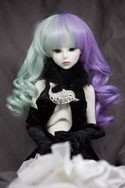 Doll Wig Kasumi - Mint Green and Lavender Purple