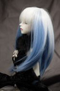 Doll Wig Haku - Snow White Fade Saxe Blue