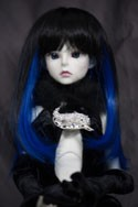 Doll Wig Haku - Natural Black Fade Royal Blue