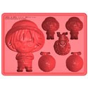 One Piece Silicon Ice Cube Tray Red