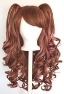 Meiko - Auburn Brown and Rose Pink Blend