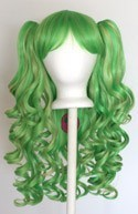 Meiko - Lime Green and Golden Blonde Mixed Blend