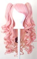 Meiko - Flaxen Blonde and Cotton Candy Pink Mixed Blend