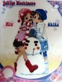 Ichigo Mashimaro Miu and Chika Plastic Mouse Pad