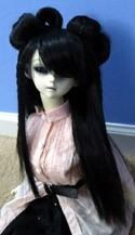 Doll Wig Lolita Buns with Braids Black