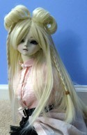 Doll Wig Lolita Buns with Braids Blond
