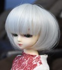 Doll Wig Short Bob Gray