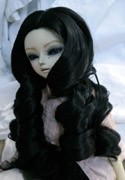 Doll Wig Giant Curls Black