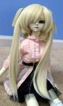 Doll Wig Long Pig Tails Blonde