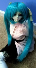 Doll Wig Long Pig Tails Dark Cyan