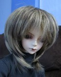 Doll Wig Short Layered Light Brown, Dark Brown