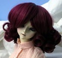 Doll Wig Short Ringlets Burgundy
