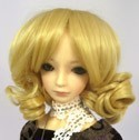 Doll Wig Short Ringlets Golden Blonde