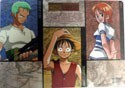 One Piece 2 Sided Luffy, Nami and Zoro Pencil Board Shitajiki