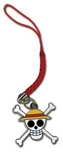 One Piece Luffy Pirate Symbol Metal Phone Strap