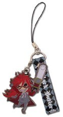 Black Butler SD Grell Phone Strap