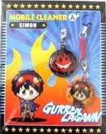 Tengen Toppa Gurren Lagann Simon and Symbol Screen Wiper Phone Strap Set