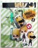Durarara!! Screen Wiper Phone Strap Set Celty, Shizuo