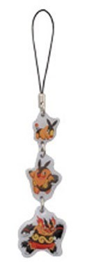 Pokemon B&W Evolution Metal Phone Strap Tepig
