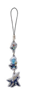 Pokemon B&W Evolution Metal Phone Strap Oshawott