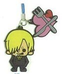 One Piece New World Rubber Phone Strap Sanji