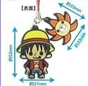 One Piece New World Rubber Phone Strap Luffy