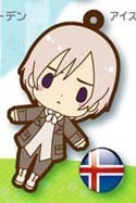 Hetalia Axis Powers Rubber Phone Strap Iceland