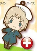 Hetalia Axis Powers Rubber Phone Strap Switzerland