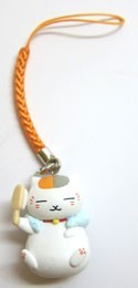 Natsume's Book of Friends Nyanko Sensei Bathing Mascot Phone Strap