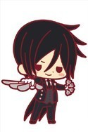 Black Butler Book of Circus Sebastian Rubber Cell Phone Strap