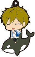 Free! - Iwatobi Swim Club Makoto on Killer Whale Rubber Phone Strap