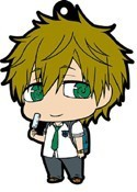Free! - Iwatobi Swim Club Makoto School Uniform with Popsicle Rubber Phone Strap