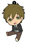 Free! - Iwatobi Swim Club Makoto School Uniform Vol. 2 Petanko Rubber Phone Strap