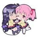 Puella Magi Madoka Magica Homura and Madoka Holding Hands Rubber Phone Strap