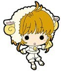 Card Captor Sakura Sakura w/ Sheep Costume Mini Rubber Strap