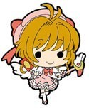 Card Captor Sakura Sakura w/ Pink Dress Mini Rubber Strap