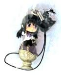 Puella Magi Madoka Magica Homura w/ Grief Seed Phone Strap
