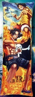 One Piece Luffy & Ace 5'' Body Pillow