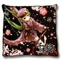Vocaloid 2' Hatune Miku Throw Pillow Black
