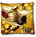 Vocaloid 2' Hatune Miku Throw Pillow Gold