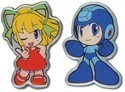 Megaman Powered Up Megaman & Roll Pin Set