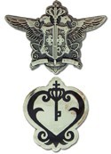 Black Butler Phantomhive Emblem & Sebastian Watch Pin Set