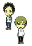 Durarara!! Mikado and Masaomi Metal Pin Set