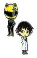 Durarara!! Celty and Shinra Metal Pin Set