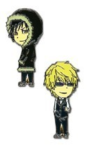 Durarara!! Shizuo and Izaya Metal Pin Set