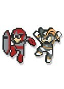 Megman X Protoman & Base Pin Set