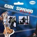 Gun X Sword Van and Dann Pin Set