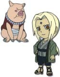 Naruto Tsunade and Ton Ton Pin Set