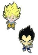 Dragonball Z Super Saiyan Goku & Vegita Pin Set